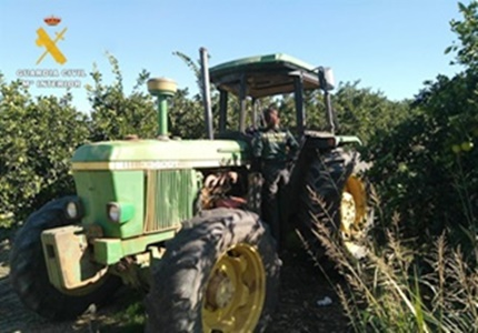 Dos vecinos de Écija han sido detenidos por robar y huir en un tractor en la localidad cordobesa de Fuente Palmera.